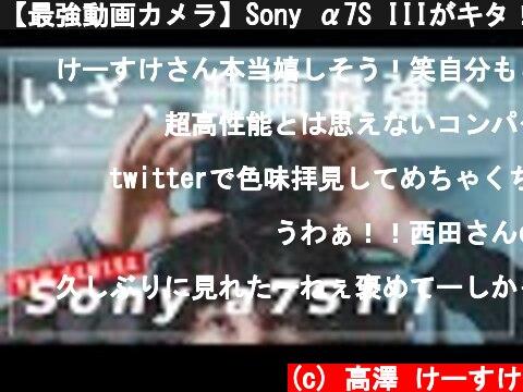 動画カメラの最高峰Sony α7S III(おすすめ動画)