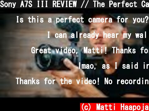 Sony A7S III REVIEW (おすすめ動画)