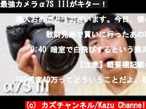 最強カメラα7S III動画性能レビュー(おすすめ動画)