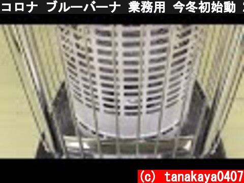 コロナ ブルーバーナ 業務用 今冬初始動 2017.12.29  (c) tanakaya0407