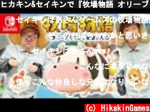 ヒカキン&セイキンで『牧場物語 オリーブタウンと希望の大地』世界最速プレイ!【Nintendo Switch】  (c) HikakinGames
