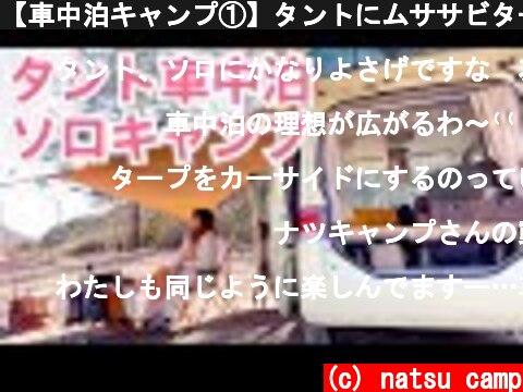 【車中泊キャンプ①】タントにムササビタープ連結させて女子ソロキャンプ  (c) natsu camp