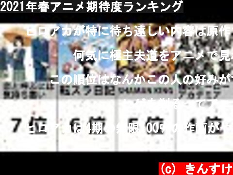2021年春アニメ期待度ランキング  (c) きんすけ