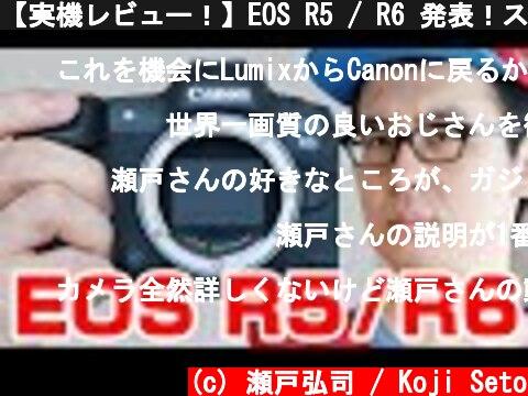canon EOS R5 と R6 の仕様比較レビュー(おすすめ動画)