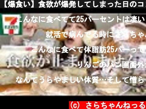 【爆食い】食欲が爆発してしまった日のコンビニ飯。【モッパン】  (c) さらちゃんねっる