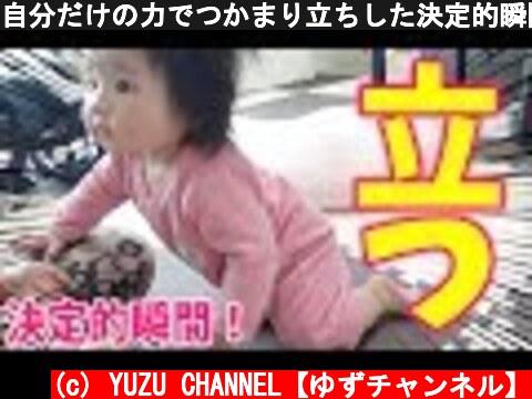 自分だけの力でつかまり立ちした決定的瞬間!【生後8ヶ月赤ちゃん】トウモロコシ丸かじり Pull herself up!!  (c) YUZU CHANNEL【ゆずチャンネル】