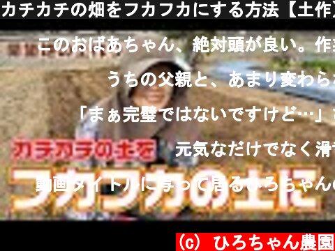カチカチの畑をフカフカにする方法【土作】【籾殻】【米ぬか】【マメトラ】【HONDA】【F220】【ミラクルロータ】  (c) ひろちゃん農園