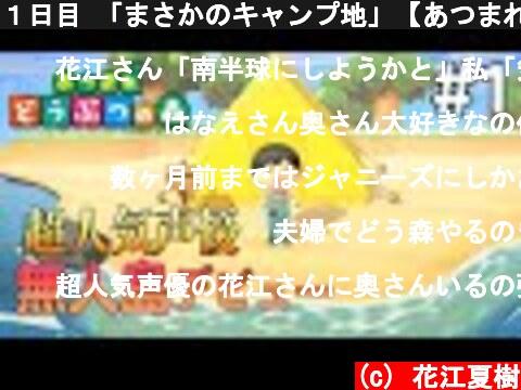 1日目 「まさかのキャンプ地」【あつまれ どうぶつの森】  (c) 花江夏樹
