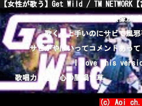 【女性が歌う】Get Wild / TM NETWORK【富士葵】歌ってみた  (c) Aoi ch.