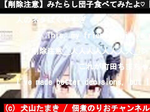 【削除注意】みたらし団子食べてみたよ♡【3D動画】  (c) 犬山たまき / 佃煮のりおチャンネル
