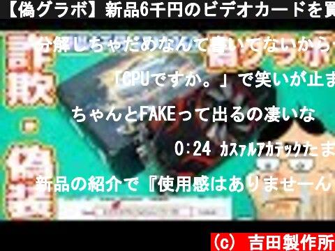 【偽グラボ】新品6千円のビデオカードを買ったら偽物・偽装でした【詐欺商品】  (c) 吉田製作所