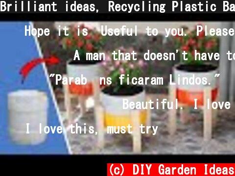 Brilliant ideas, Recycling Plastic Barrels into beautiful flower Pots  (c) DIY Garden Ideas