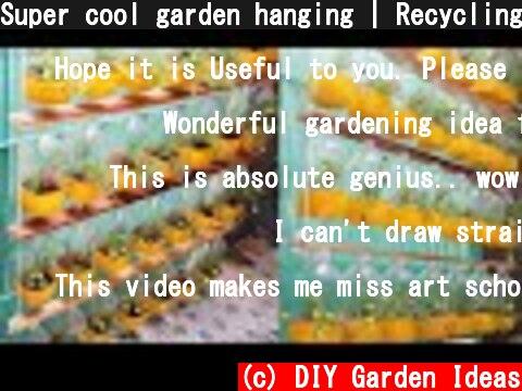 Super cool garden hanging | Recycling plastic bottles into very beautiful hanging flower pots  (c) DIY Garden Ideas