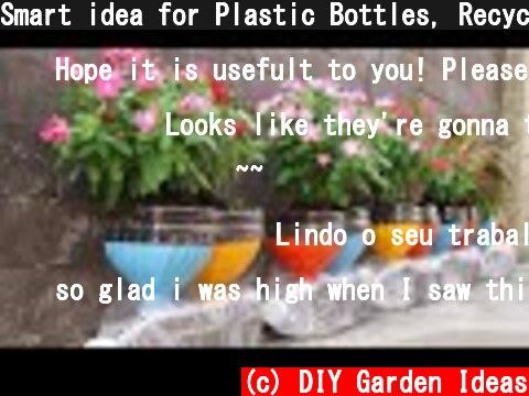 Smart idea for Plastic Bottles, Recycling Plastic bottles into Flower pots  (c) DIY Garden Ideas