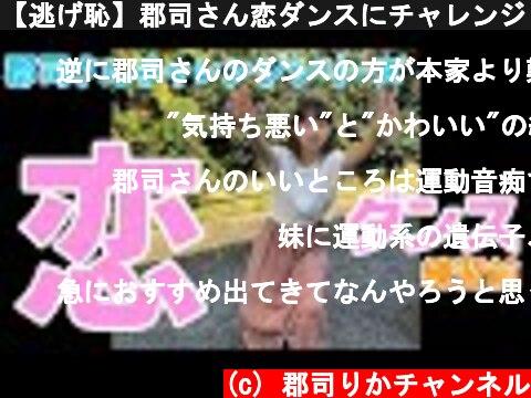 【逃げ恥】郡司さん恋ダンスにチャレンジ (練習前)  (c) 郡司りかチャンネル