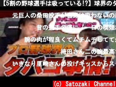 【5割の野球選手は吸っている!?】球界のタバコ事情について説明します!  (c) Satozaki Channel
