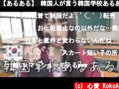 【あるある】 韓国人が言う韓国学校あるある(100%リアル)🇰🇷🏫  (c) 心愛 KokoA