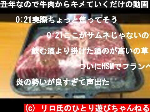 丑年なので牛肉からキメていくだけの動画  (c) リロ氏のひとり遊びちゃんねる