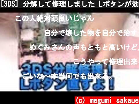 [3DS] 分解して修理しました Lボタンが効かなくなったお  (c) megumi sakaue