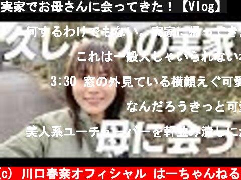 実家でお母さんに会ってきた!【Vlog】  (c) 川口春奈オフィシャル はーちゃんねる