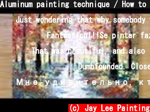 Aluminum painting technique / How to draw a couple under umbrella  (c) Jay Lee Painting