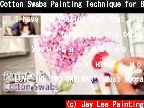 Cotton Swabs Painting Technique for Beginners   Basic Easy Step by step  (c) Jay Lee Painting