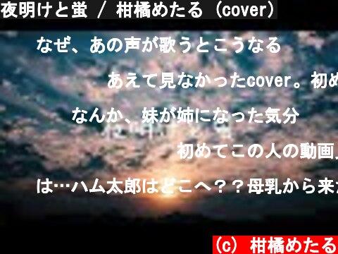 夜明けと蛍 / 柑橘めたる (cover)  (c) 柑橘めたる