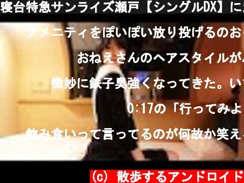 寝台特急サンライズ瀬戸【シングルDX】に泊まる。  (c) 散歩するアンドロイド
