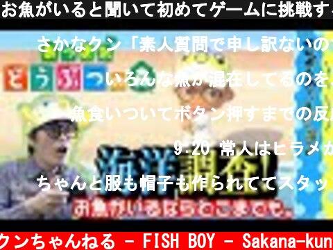 お魚がいると聞いて初めてゲームに挑戦するであります!【あつ森実況】  (c) さかなクンちゃんねる - FISH BOY - Sakana-kun