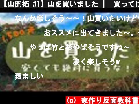 【山開拓 #1】山を買いました    買ってはいけない土地の選び方【山林1,500坪】  (c) 家作り反面教科書