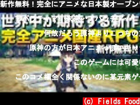 新作無料!完全にアニメな日本製オープンワールドRPGが凄すぎる件|BLUE PROTOCOL【ゆっくり実況】ブループロトコル  (c) Fields Food