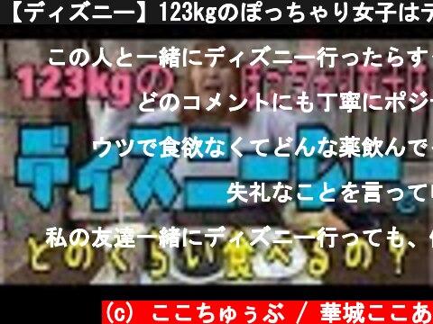 【ディズニー】123kgのぽっちゃり女子はディズニーシーでどのくらい食べるの?  (c) ここちゅぅぶ / 華城ここあ