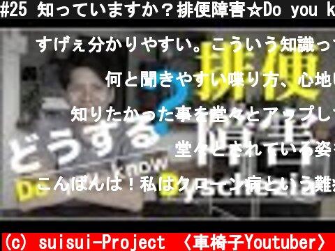 """#25 知っていますか?排便障害☆Do you know """"Dyschezia""""?  (c) suisui-Project 〈車椅子Youtuber〉"""