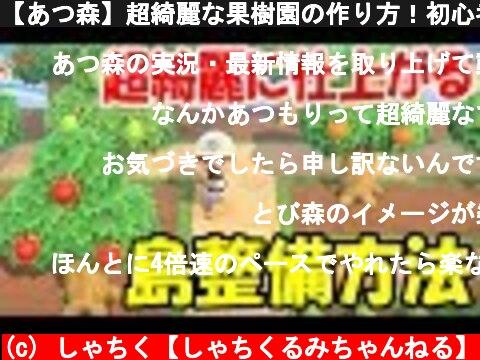 【あつ森】超綺麗な果樹園の作り方!初心者でも簡単に島整備できる方法とコツを教えるぞ!【あつまれどうぶつの森/島クリエイター/島クリエイト】  (c) しゃちく【しゃちくるみちゃんねる】