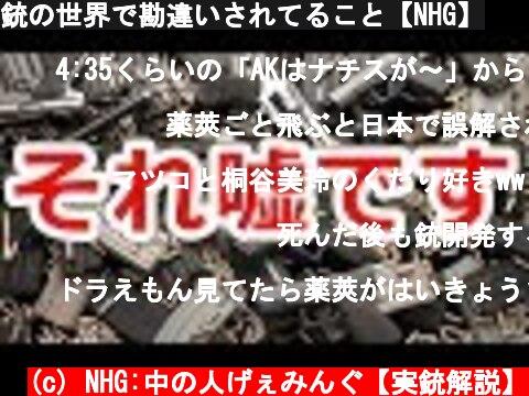 銃の世界で勘違いされてること【NHG】  (c) NHG:中の人げぇみんぐ【実銃解説】