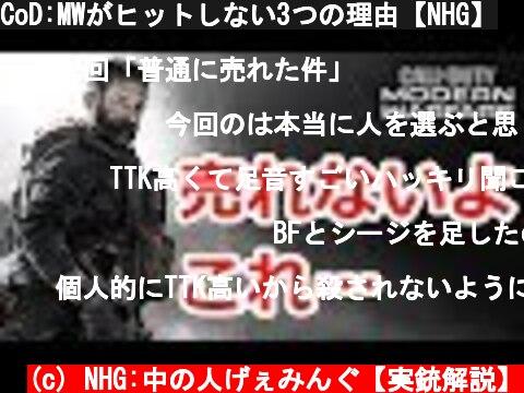 CoD:MWがヒットしない3つの理由【NHG】  (c) NHG:中の人げぇみんぐ【実銃解説】