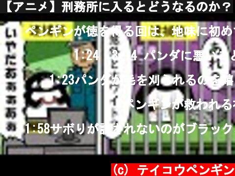 【アニメ】刑務所に入るとどうなるのか?  (c) テイコウペンギン