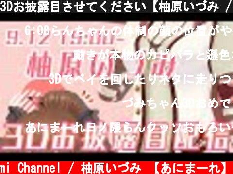 3Dお披露目させてください【柚原いづみ / あにまーれ】  (c) Izumi Channel / 柚原いづみ 【あにまーれ】
