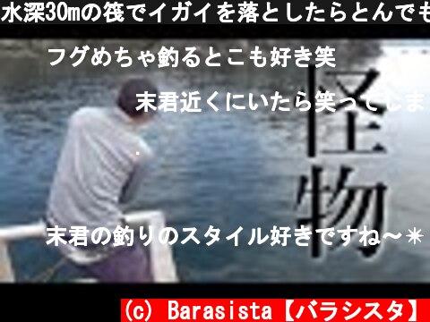 水深30mの筏でイガイを落としたらとんでもない事に…!!  (c) Barasista【バラシスタ】