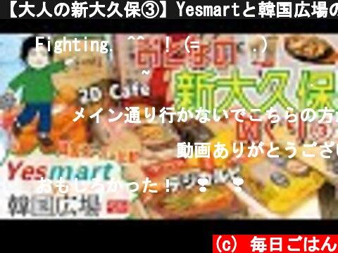 【大人の新大久保③】Yesmartと韓国広場の比較・チャカン食堂でデジカルビランチ・2D Cafeで購入品紹介♪食べ歩き!  (c) 毎日ごはん