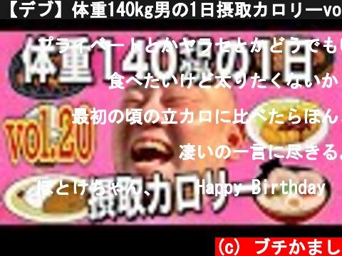 【デブ】体重140kg男の1日摂取カロリーvol.20  (c) ブチかまし