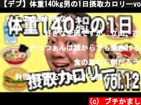 【デブ】体重140kg男の1日摂取カロリーvol.12  (c) ブチかまし