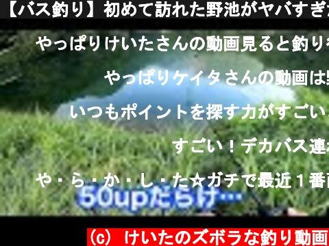 【バス釣り】初めて訪れた野池がヤバすぎた!!  (c) けいたのズボラな釣り動画