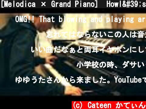 [Melodica × Grand Piano]  Howl's Moving Castle - Merry Go Round of Life  (Joe Hisaishi)  (c) Cateen かてぃん
