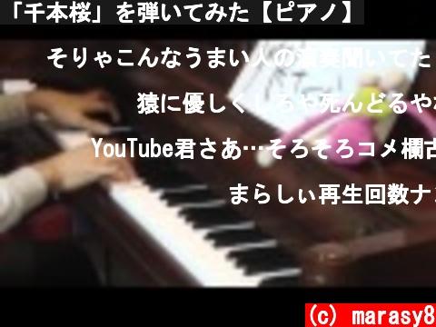 「千本桜」を弾いてみた【ピアノ】  (c) marasy8