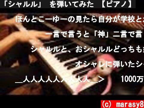 「シャルル」 を弾いてみた 【ピアノ】  (c) marasy8