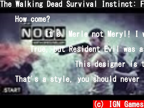 The Walking Dead Survival Instinct: First Footage/Details -- Up at Noon  (c) IGN Games