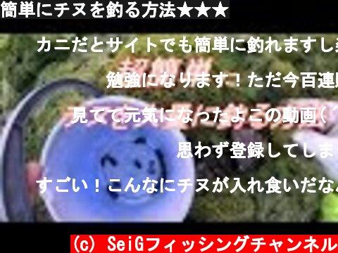 簡単にチヌを釣る方法★★★  (c) SeiGフィッシングチャンネル