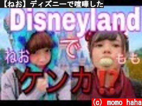 【ねお】ディズニーで喧嘩した  (c) momo haha