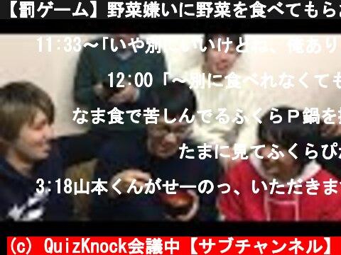 【罰ゲーム】野菜嫌いに野菜を食べてもらおう  (c) QuizKnock会議中【サブチャンネル】
